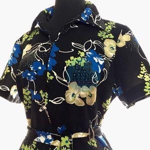 vtg Lorac Originals Floral Dress